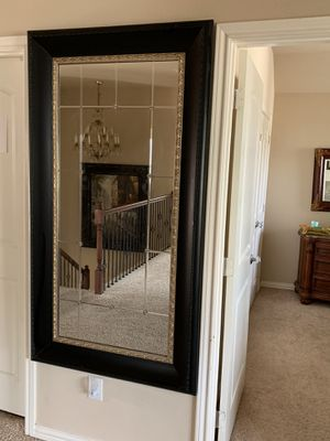 Framed mirror with metal flower inserts for Sale in McKinney, TX