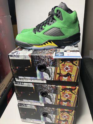Nike air Jordan 5 oregon size 8 8.5 9 10 10.5 11 12 brand new for Sale in Bellevue, WA