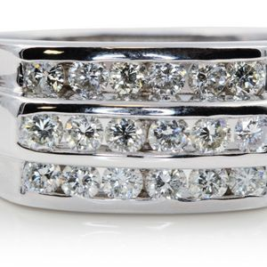U626 MENS DIAMOND WEDDING BAND RING 1.50CT 14K GOLD 12.40 GRAMS for Sale in San Diego, CA