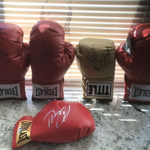 COAAutographed professional boxing gloves and martial arts items all come with for Sale in Cranberry Township, PA