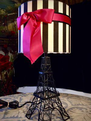 Metal art Eiffel Tower Desk Lamp H20xW5.5 inch for Sale in Sun Lakes, AZ
