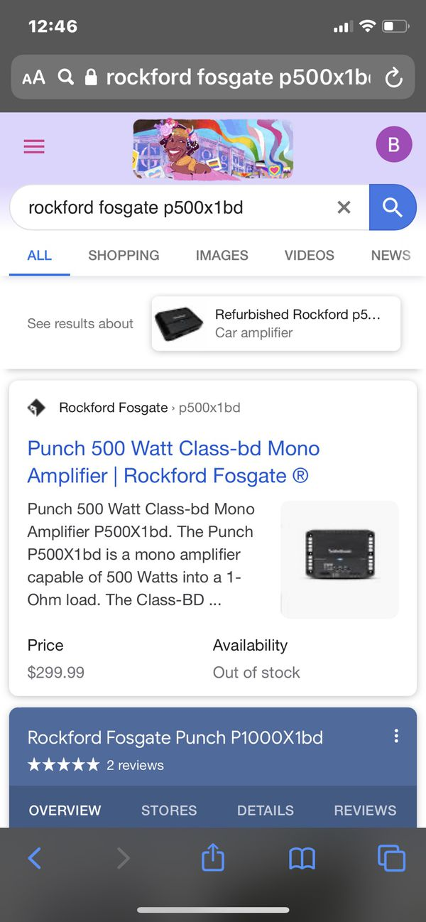 Rockford fosgate 12 inch sub and amp