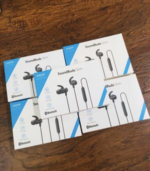 Bluetooth Headphones, Anker SoundBuds Slim Wireless Workout Headphones for Sale in Chino, CA