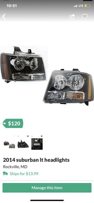 Suburban / Tahoe/ Escalade light for Sale in Rockville, MD