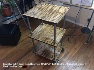 Live Edge Epoxy Resin Table for Kitchen for Sale in Clinton, NJ