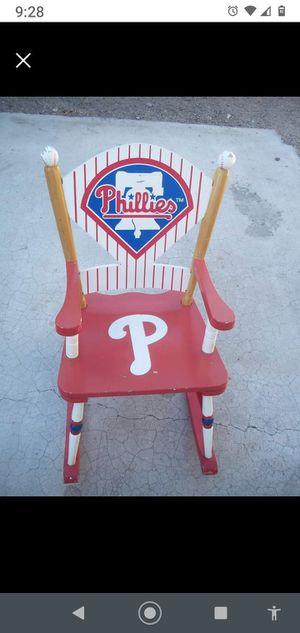 Kids Wooden Toy Philadelphia Phillies Rocking Chair for Sale in Las Vegas, NV