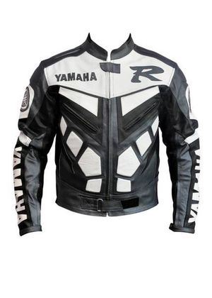 Motorcycle Jacket Yamaha Gray Leather Jacket Size XL-3XL for Sale in Austin, TX