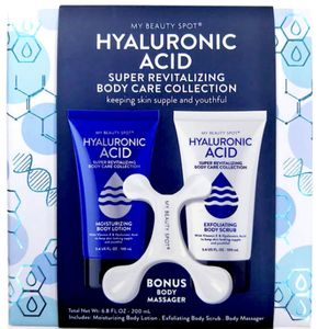 FHyaluronic Acid 3-Piece Body Care Gift Set Total net wt.: 6.8 oz. Net wt.: 3.4 oz. (each) Includes body lotion, exfoliating body scrub and a body m for Sale in Los Angeles, CA