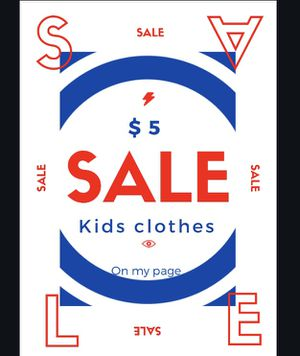 $5 clothing sale kids for Sale in Euclid, OH