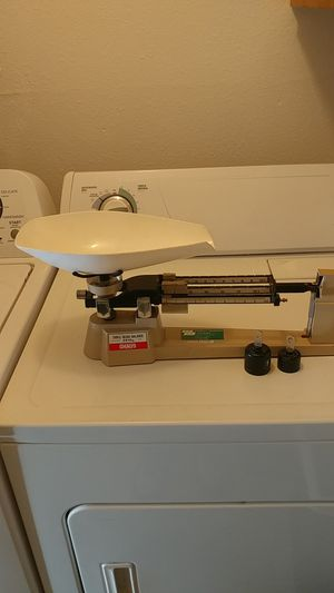 Rare Ohaus 2610g Triple Beam with Grain Scoop & optional bulk weights. for Sale in Tacoma, WA