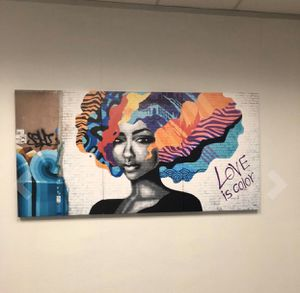 NEW Home Decor Graffiti Love Is Color 3 Panel Canvas Wall Art for Sale in Indianapolis, IN