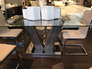 Glass dining table with two seats brand new for Sale in Miami, FL