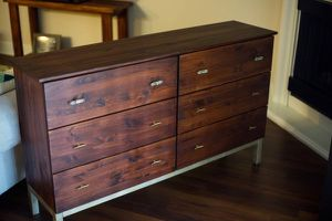 IKEA Tarva Dresser - Hack upgrades with custom paint and pulls for Sale in Fallbrook, CA