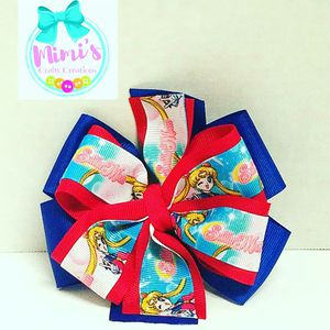 Sailor Moon double stacked pinwheel bow for Sale in Austin, TX