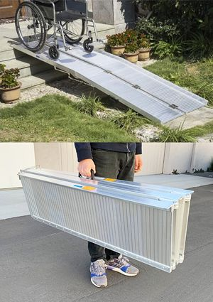 """New $195 Aluminum 8' ft Portable Wheelchair Scooter Mobility Folding Ramp (96x28"""") for Sale in El Monte, CA"""