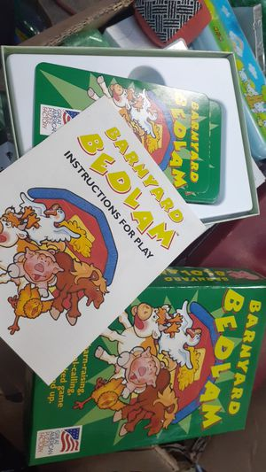 Memory card game - Barnyard Bedlam Ages4+ Great American Puzzle Factory for Sale in Anaheim, CA