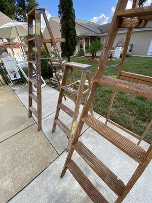 Wooden step ladders for Sale in Hudson, FL