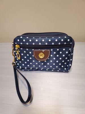 NEW!! BLUE/WHITE POLKA DOT SMALL HAND PURSE - firm price. for Sale in Arlington, VA