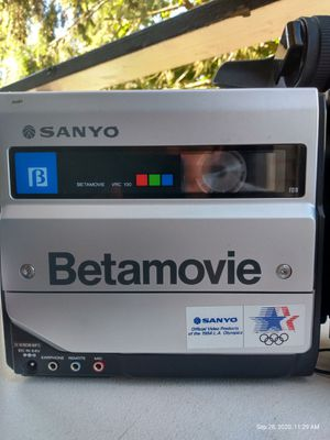 Betamovie beta max camcorder with sony beta player for Sale in Seattle, WA