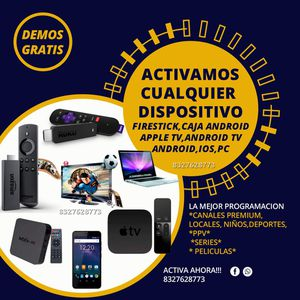 Activa tu dispositivo! Firestick, Android tv, etc for Sale in Houston, TX