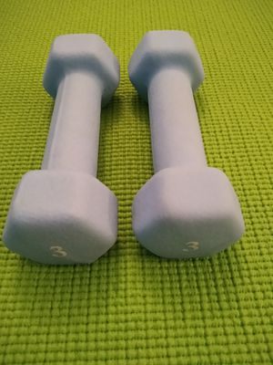 Two 3 lbs dumbbells for Sale in Troy, MI