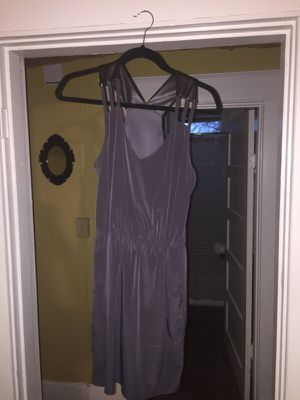 Grey dress with leather straps and pockets for Sale in Nashville, TN