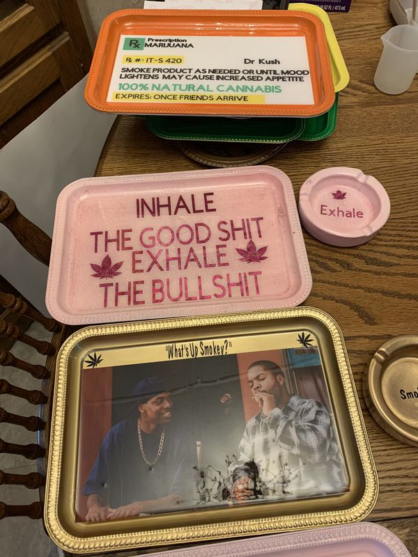 Novelty rolling trays