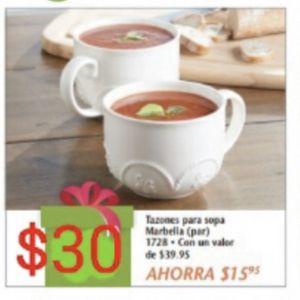 Tazones Para Sopa Marbella Princess House for Sale in Mesquite, TX