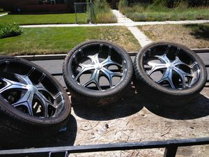 Tires 305 _35-24. 3 with meat for Sale in Denver, CO