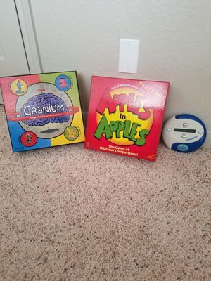 Games! Cranium, Apples to Apples, Catchphrase for Sale in Baton Rouge, LA
