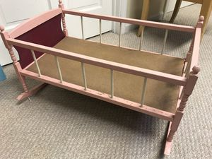 Antique (1970's) TOY baby doll cradle for Sale in Arvada, CO