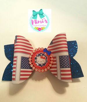 Hello Kitty Patriotic Hairbow for Sale in Sunset Valley, TX