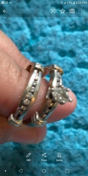 14k White Gold Wedding Rings Set for Sale in Los Angeles, CA