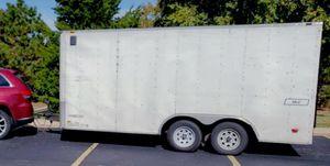 2010 Haulmark 8.5x16' Dual Axle Enclosed Cargo Trailer w/ Rear Ramp and Side Door - E-Track Cargo Rails Floor & Walls for Sale in Mesa, AZ