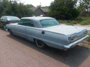 63 Chevy Impala barn find No Rest ready for paint got all the clean chrome molding that go's on 63 for Sale in Denver, CO