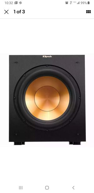 New Klipsch R-12SW Reference Powered Subwoofer - Black for Sale in Sterling Heights, MI