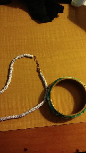 Wooden bracelet and necklace for Sale in Madison Heights, VA