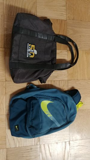 Backpack duffle bag laptop bag packable backpack $10 each for Sale in Queens, NY