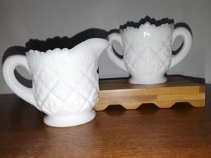 Miniature Milk Glass Creamer and Sugar Bowl for Sale in Dittmer, MO
