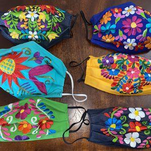 Adult Flower Embroidered Face Mask for Sale in Glendale, AZ
