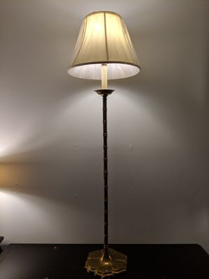 "56""h antique brass lamp, bamboo and lotus style for Sale in Rockville, MD"