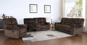 NEW BARCELONA MICROFIBER SOFA LOVE SEAT AND CHAIR. BROWN OR GRAY. ONLY $1199. NO CREDIT CHECK OR ONE YEAR DEFERRED INTEREST FINANCING AVAILABLE. for Sale in Lakeland, FL