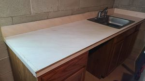 Old kitchen countertop with cabinets for free for Sale in Somerset, NJ
