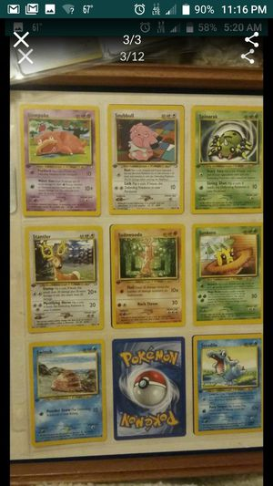 1st EDITION POKEMON CARDS COMMON AND UNCOMMON for Sale in Las Vegas, NV