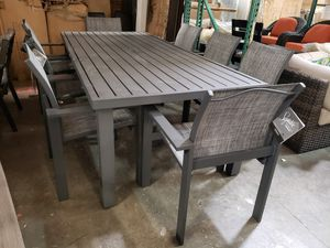 New 9pc outdoor patio furniture dining table set tax included delivery available for Sale in Hayward, CA