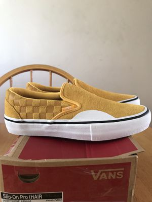 Brand new vans slip on pro hairy suede banana skate skateboard shoes (men's size 7.5, youth 7.5y, women's 9) for Sale in La Mesa, CA