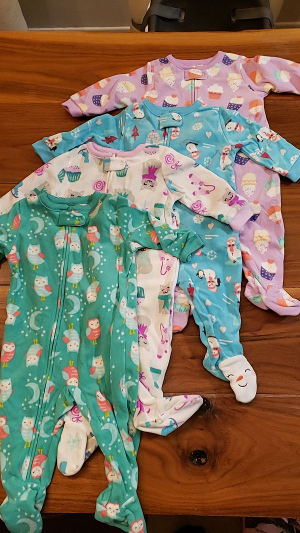 Fleece footed pajamas 6mo