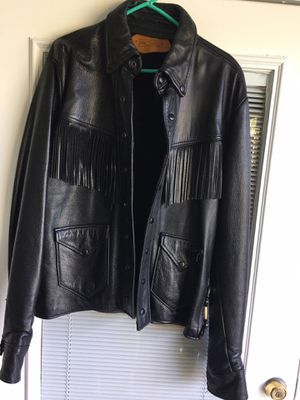 BLK LEATHER JACKET for Sale in Lauderhill, FL