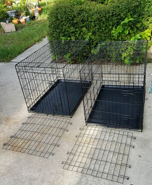 Collapsible Metal 🐕 dog 🐶 Crates w/ liner , divider $54 each see details for Sale in Clearwater, FL