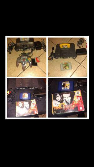 3 N64 bundles smokey/gray with game/games/1 conteoller each for Sale in Escondido, CA
